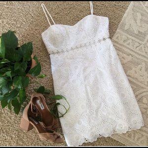 Lilly Pulitzer Sheena White Cutout Dress Size 6